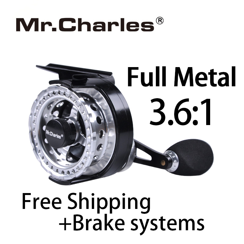 Mr.Charles New FFD60 Gear ratio 3.6:1 Aluminum Front-end Fishing Left/Right Hand Fly Fishing Reel Raft Ice Fishing Reel