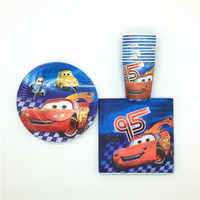 60Pcs/Lot Pop Disney Cars Paper Cups+Plates+Napkin Child Birthday Party Decoration Lightning McQueen Disposable Tableware Supply