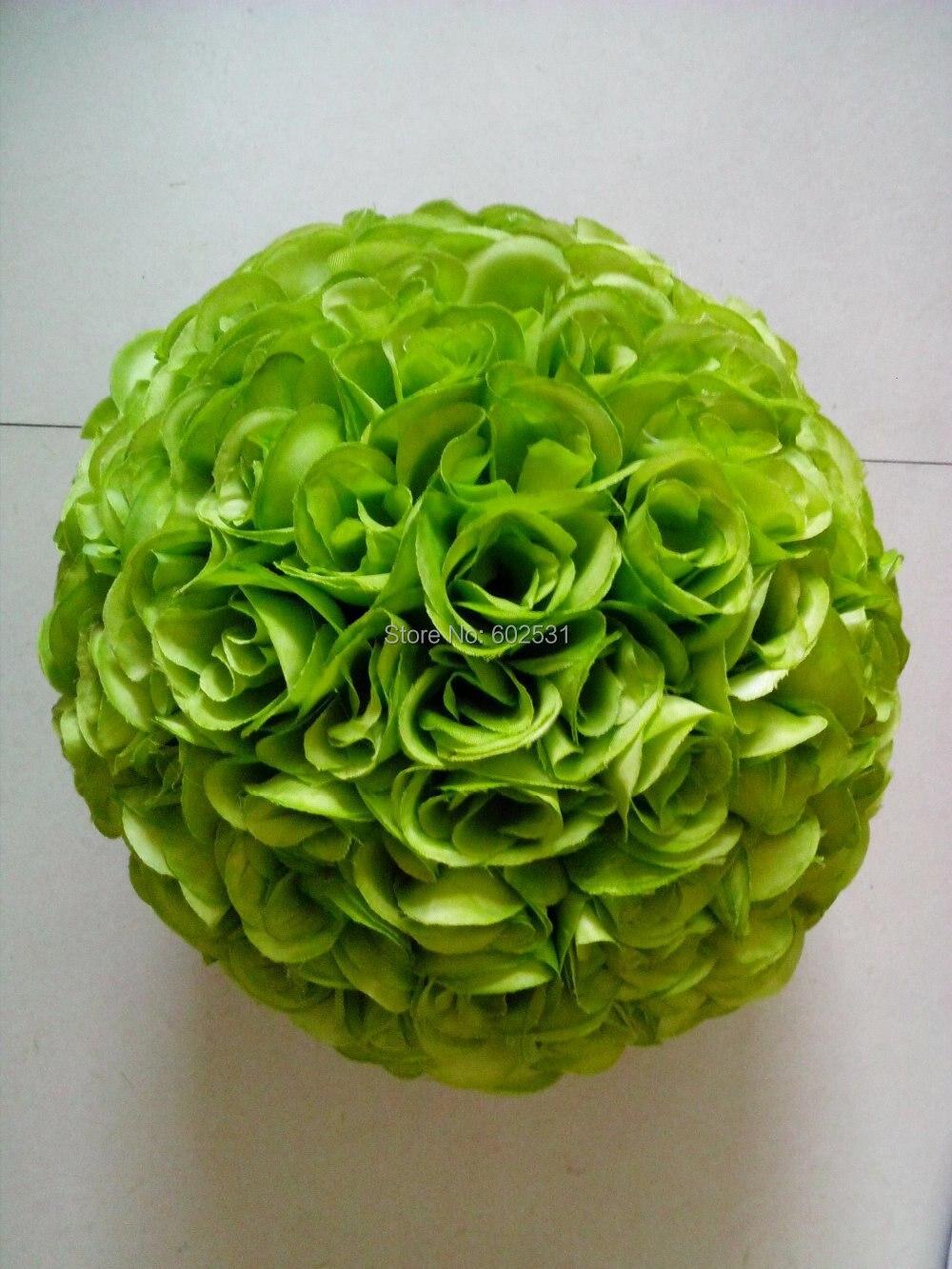 Spr 30cm Plastic Center Wedding Kissing Flower Ball 23 Colors Option Wedding Decorations Flowers Silk Artificial Flowers