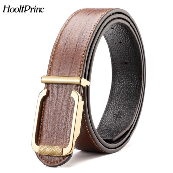 New men's brand designer belts for male straps cowhide Genuine leather gold silver smooth buckles ceinture cinturones hombre