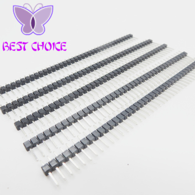 10pcs 40Pin 2.54 Single Row Pin Male Header Connector Strip for Arduino Prototype Shield DIY Free Shipping