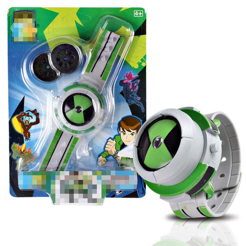 Venta caliente Ben 10 proyección reloj estilo niños proyector Reloj Japón genuino Ben 10 juguete reloj Ben10 proyector