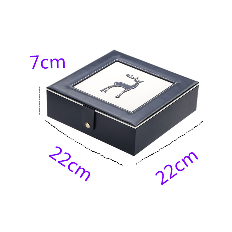 free shipping new style double layer portable travel jewelry box PU leather display organizer lockers earrings necklace rings in Jewelry Packaging Display from Jewelry Accessories