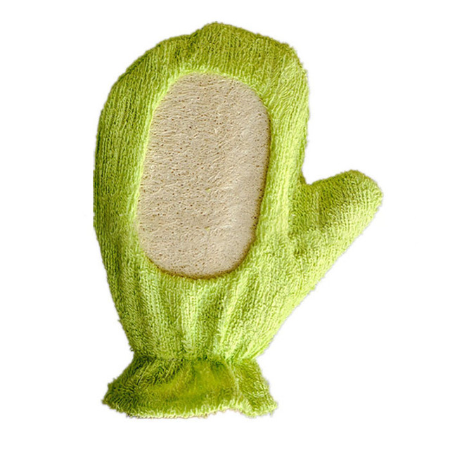 Luckyfine Bath Body Exfoliating Sponge Massage Shower Bath Gloves Exfoliating Shower Scrubber Puff Pad Brush 2