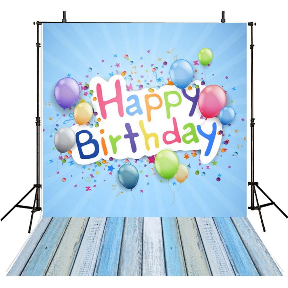 Happy Birthday Photography Backdrops Vinyl Backdrop For