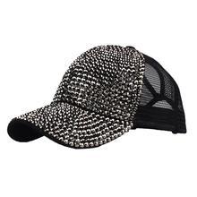 Роскошные женские туфли-лодочки Бейсбол Кепки блестящая кепка со стразами белые женские Стразы Шапки новые козырьком для девочек можно носить задом наперед бейсбольные кепки