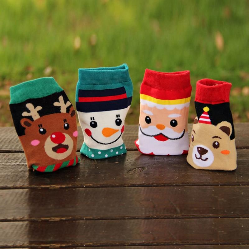 Cartoon holiday socks Christmas socks cotton cotton casual cotton socks