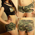 Sexy Women's Camouflage Jeans Shorts Hot Shorts Denim Low Waist Fashion Shorts
