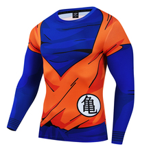 Men 3D Dragon Ball ZT Shirt Long Sleeve T Tops Shirts Fitness Compression  The armor of the Master Roshi