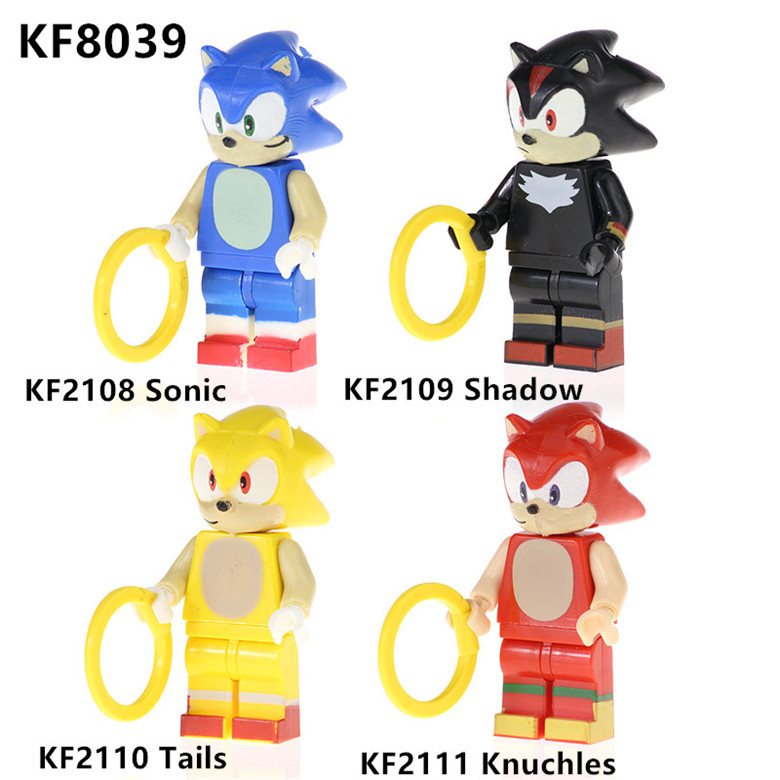 KF8039 Single Sale Knuchles Accessories With Ring Sonic Figures Model Adventure Game Building Blocks For Chirdren Toys Best Gift
