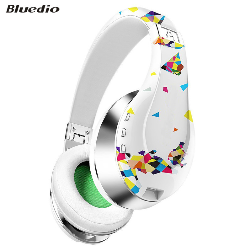 ФОТО Original Bluedio Fashionable Wireless Bluetooth Headphones with Microphone, HD Diaphragm, Twistable Headband, 3D Surround Sound