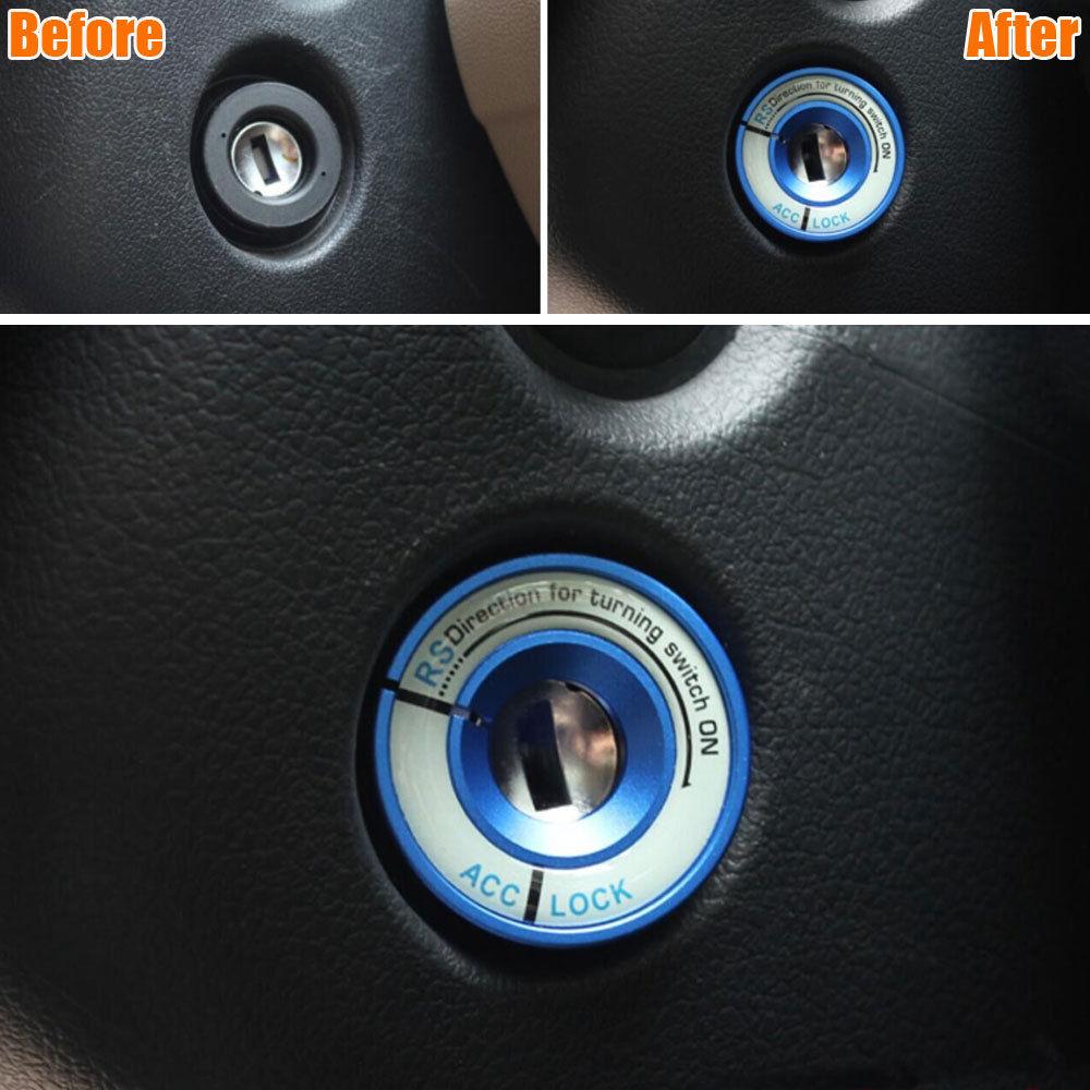Luminou Ignition Switch Key Hole Ring Engine Start Cover Trim Decoration for Golf Jetta Polo Tiguan CC Passat Bora Car Styling