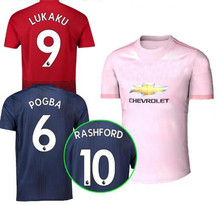 cbf297103 2018 Manchester United LUKAKU ALEXIS 3rd soccer jersey 182019 Pink AWAY  POGBA MARTIAL LINGARD MATIC SMALLING