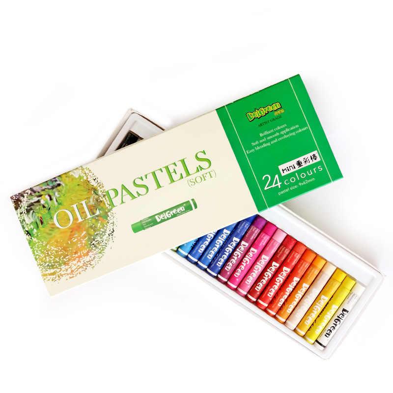 Bâton de peinture à l'huile de couleur lourde MINI ensemble 24 couleurs enfants peuvent laver coloré Crayon doux brillant fournitures scolaires de bureau Non-toxique