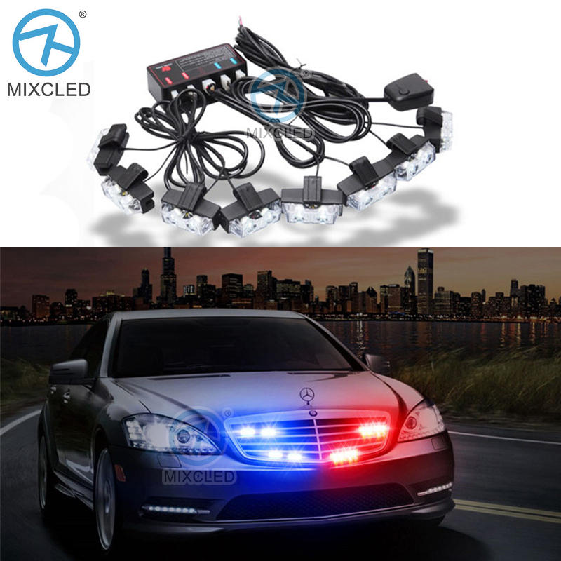1Set 8 in1 LED Strobe lamp LED Ambulance Police light Car Truck Flashing Firemen Lights 12V led Warning light with Wired Remote 1 set flashing led lights dc 12v car