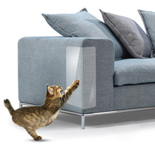 2pcs Anti Scratch Pet Guard Cat Scratching Adhesive Corner Guard PVC Cat Scratchers Furniture Couch Protector