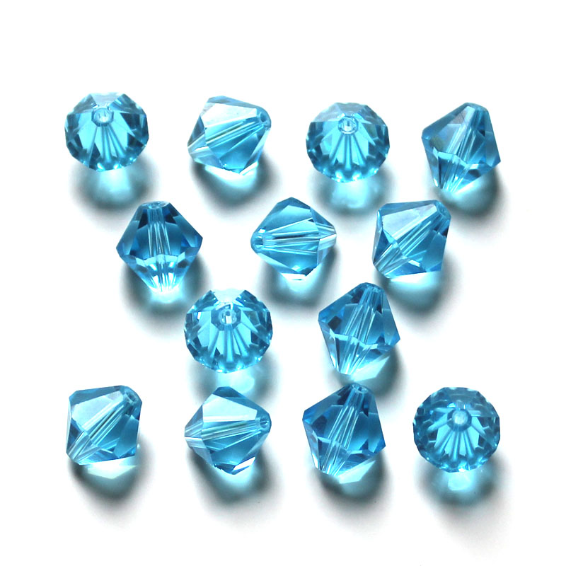 Czech Seed Bicone Bead 100ps 8mm Crystal Glass Bicone Beads for DIY Jewelry Making AAA Beads Spacer in Beads from Jewelry Accessories