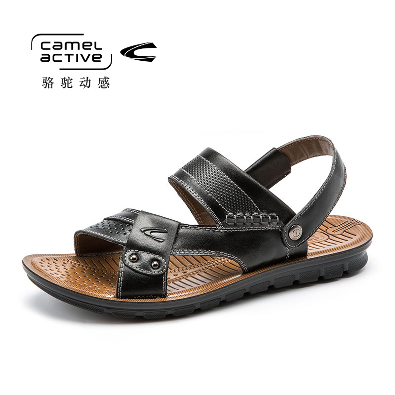 Camel Active genuine leather men sandals summer cow leather new for beach male shoes mens gladiator sandal leather sandals