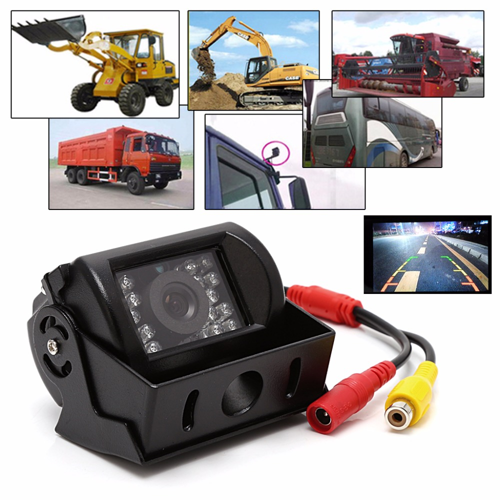 18 IR LED Car Rearview Camera Night Vision Wide Angle Waterproof Truck Bus Camera For Car Rear View Displayer Night vision 2017