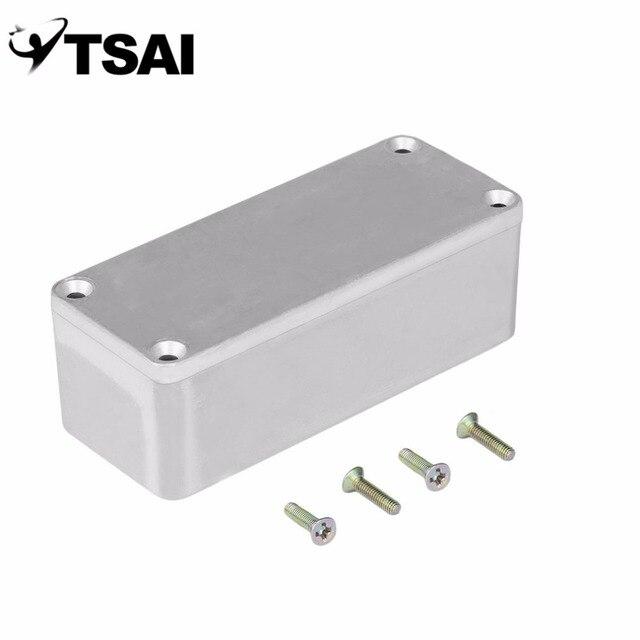 Caja de Pedal de efectos TSAI de aluminio, caja de estilo 120*93*35mm para caja de instrumentos de guitarra, soporte de almacenamiento de alta calidad