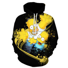 Funny Homer Simpson And his Son Anime Hoodie Mens 3D Printing Brand Pullover Fashion Casual Sweatshirt Unisex 6XL