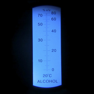 2017 Hand held 0-80% Alcohol Refractometer ATC Spirits Tester Alcoholometer (single scales) Adjustable Manual Focusing Aluminum