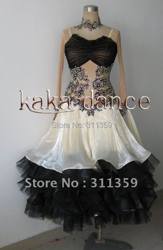 Free shipping 100 New Competition ballroom Standard font b dress b font any colour ecah size