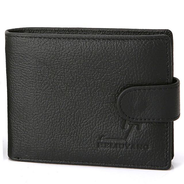 Hot Sale Genuine Leather Men Wallet Hasp Design Male Purse With Coin Pocket Men's Purse Cards Pouch Clutch Male Cartera Wallets