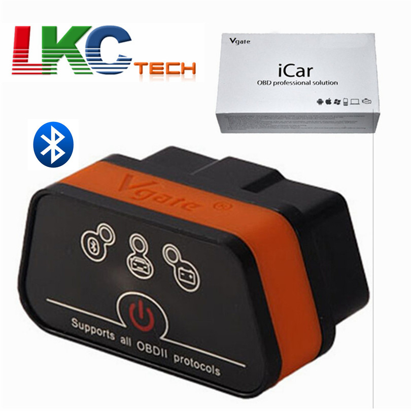 2018 Vgate iCar2 Bluetooth With 6 Colors Available For Android Only ELM327 Bluetooth Auto OBDII Vgate iCar 2 Bluetooth мини elm327 bluetooth obdii автоматический сканер b06 автомобилей диагностический сканер