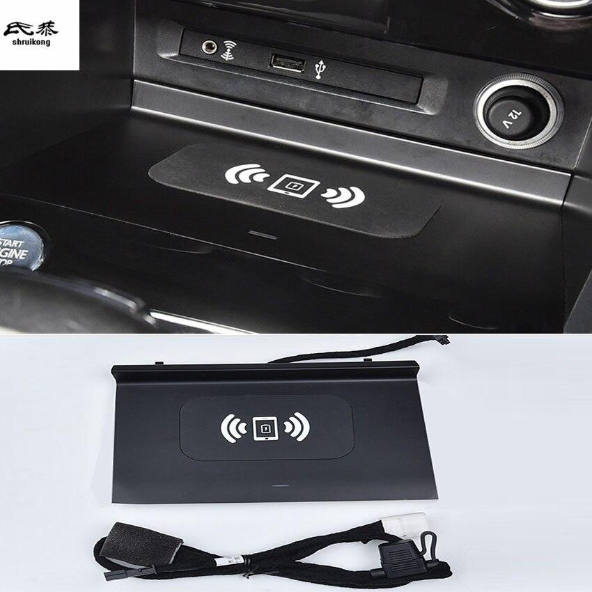 1 lot voiture autocollant téléphone portable sans fil charge accoudoir Central boîte de rangement pour 2017-2019 Volkswagen VW Tiguan 2th MK2
