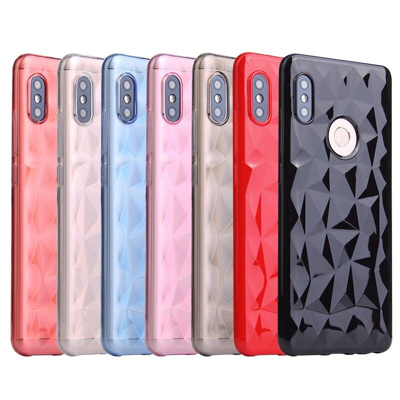 Caso de Bling para Xiaomi rojo mi nota 4X4 5A primer rojo mi 4A S2 5 Plus 6A 6 pro Xio mi 8 A1 A2 Lite 5X 6X de silicona estuche de Coque