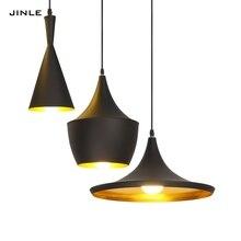 JINLE LED Simple Creative Avize Aluminium Pendant Lights Nordic Retro Art  Cafe Bar