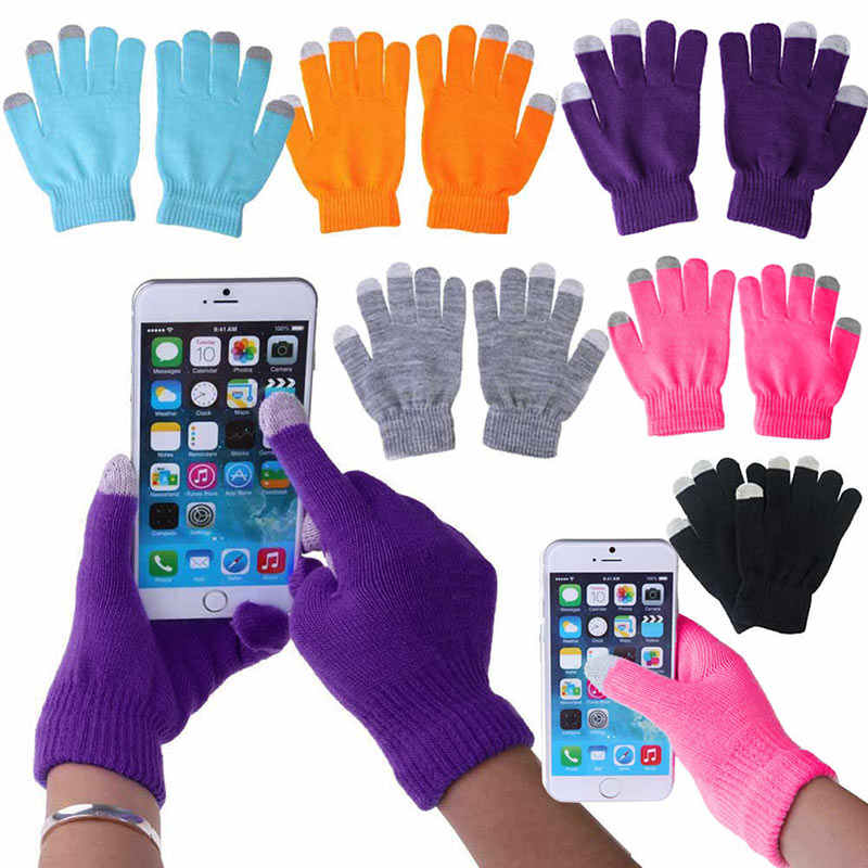 Unisex Winter Warm Capacitive Knit Gloves Hand Warmer for Touch Screen Smart Phone Top Quality Female Gloves Guantes Mujer