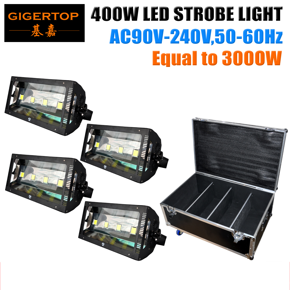 ATA Shock Mount Rack Road Flight Tour Estuche Embalaje Etapa profesional Iluminación estroboscópica 4 x 100W Led blanco 400W Potencia igual 3000W