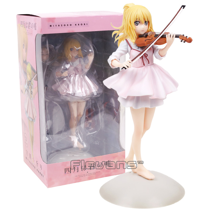Your Lie in April Miyazono Kaori 1/7 Scale PVC Figure Collectible Model Toy 23cm neca marvel legends venom pvc action figure collectible model toy 7 18cm kt3137
