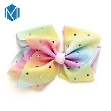 M MISM Cute Girls Daily Drill Bow Clip Polyester Solid Student Barrettes Daughter Gift Fashion Hair Accessories