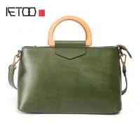 AETOO Retro Original Shoulder Skirt Set Collar Chocolate Candy Handbag Leather Handbag Leather Handbag Leather Handbag