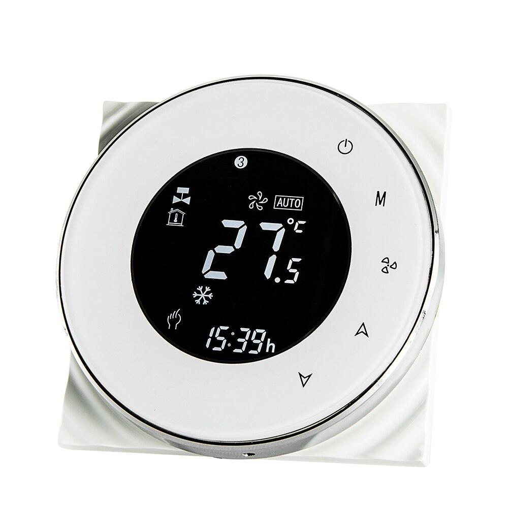 6000 round thermostat-white