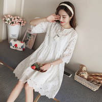 9189 2018 new spring maternity lace dress suit (send sling)