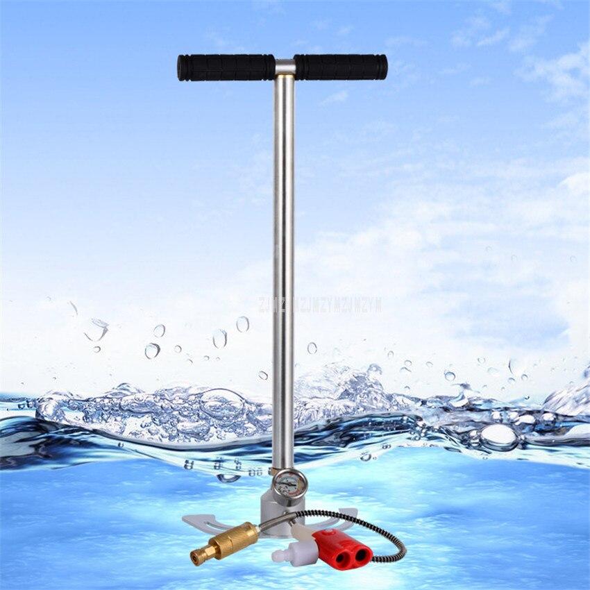 Pompe à Air manuelle haute pression 30MPa pour vélo/vélo vélo route vtt gonfleur de pneu de sol avec manomètre 40MPa