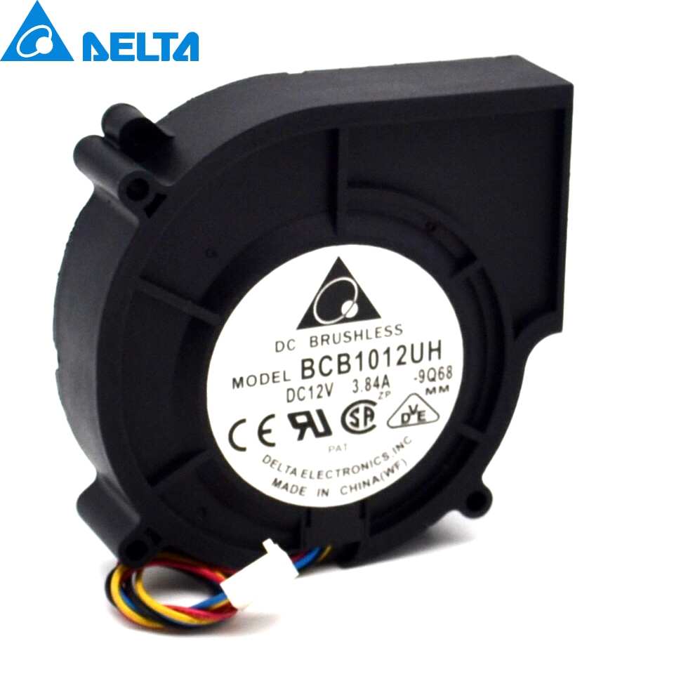 Delta New 9cm car super turbo fan blower 12V3.84A Madden wind BCB1012UH-9Q68 97 * 87 * 25mm delta 12038 12v cooling fan afb1212ehe afb1212he afb1212hhe afb1212le afb1212she afb1212vhe afb1212me