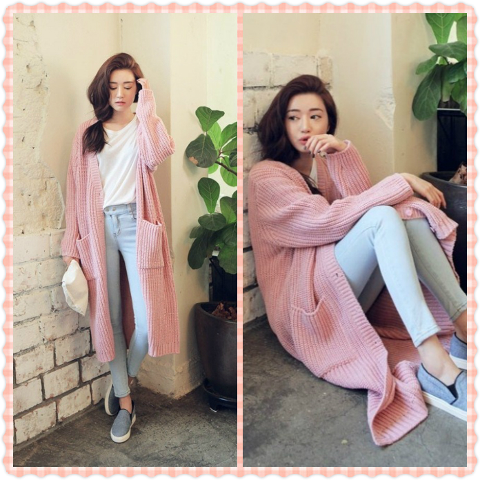 Pink Sweater Coat Promotion-Shop for Promotional Pink Sweater Coat ...