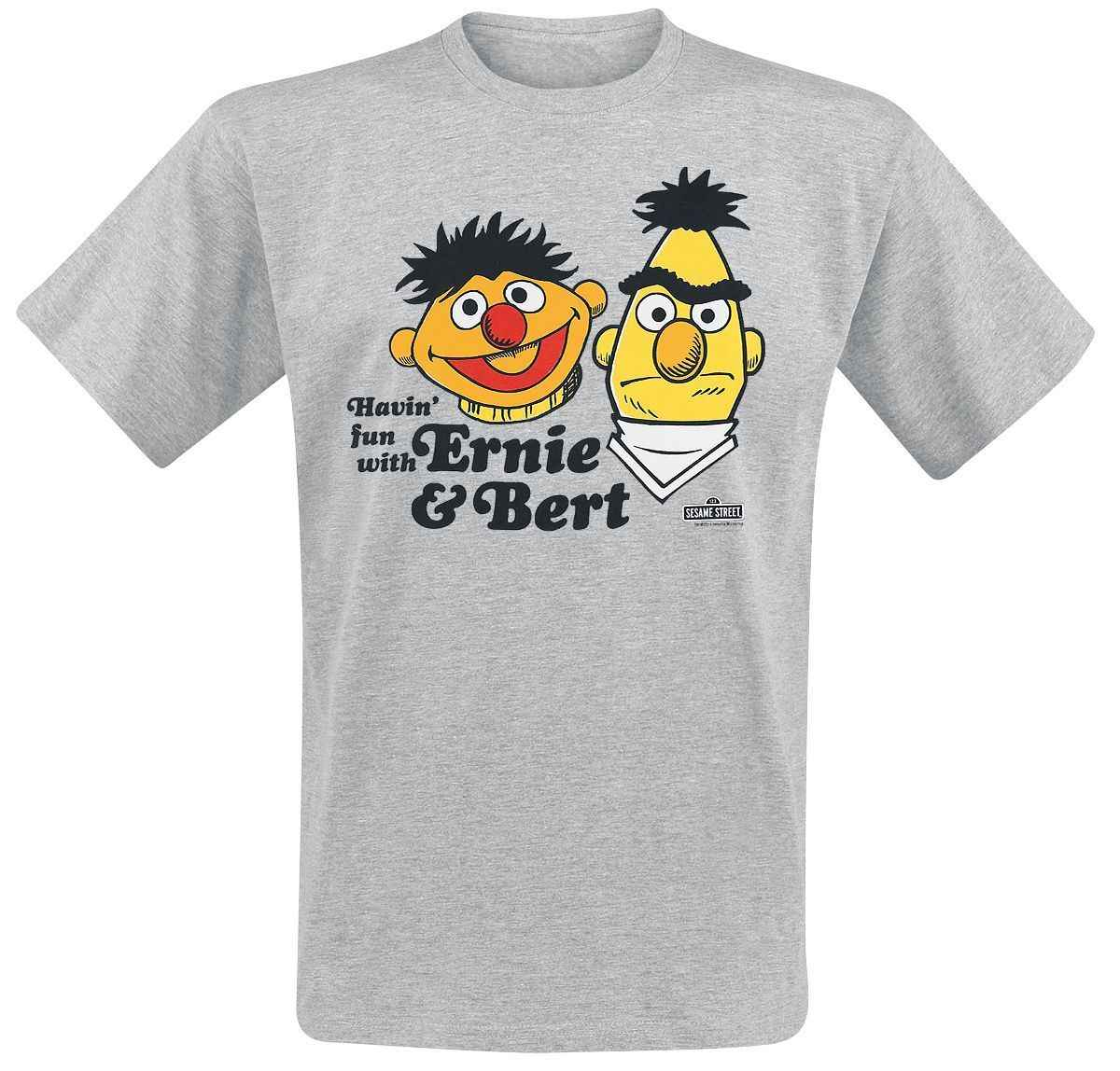 e8b600bd9709 Sesame Street Ernie   Bert T-Shirt mottled grey Cartoon t shirt men Unisex  New
