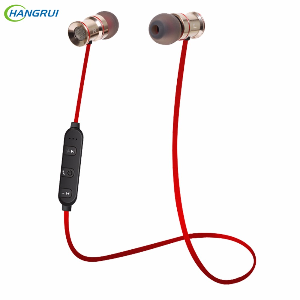 HANGRUI H8 Magnetic Bluetooth Earphone wireless Headphones Hands free bluetooth Headset Sport Earphone for iPhone 6 Xiaomi redmi bluetooth earphone headphone for iphone samsung xiaomi fone de ouvido qkz qg8 bluetooth headset sport wireless hifi music stereo