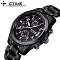 Luxury Brand CTIME Luminous Men's Watches Solid Stainless Steel Chronograph Fashion Casual Sports Wristwatches Relogio Masculino