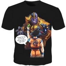 Cloudstyle 3D T-shirt Men Thanos Dragon Ball Super Goku Full Print Creative Funny Tee Shirt Summer Top Streetwear Fashion