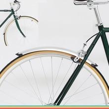 אופניים רטרו קבוע ציוד אופני 700C כביש אופניים פנדר אופניים מעשי חלקי כסף שחור