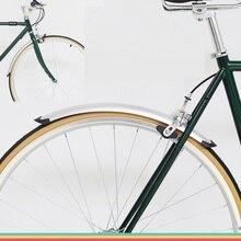 Bisiklet ön arka çamurluk Retro bisiklet sabit dişlisi 700C yol bisiklet çamurluk bisiklet pratik parçaları gümüş siyah