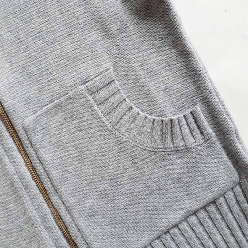 Taotrees dwuczęściowy damski sweter na zamek błyskawiczny z kapeluszem top + spodnie ciepły kombinezon z dzianiny wygodna odzież sportowa