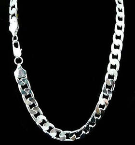 Chain Necklace Jewelry Collier Sterling-Silver Wholesale Men's Fashion 12mm Curb High-Quality